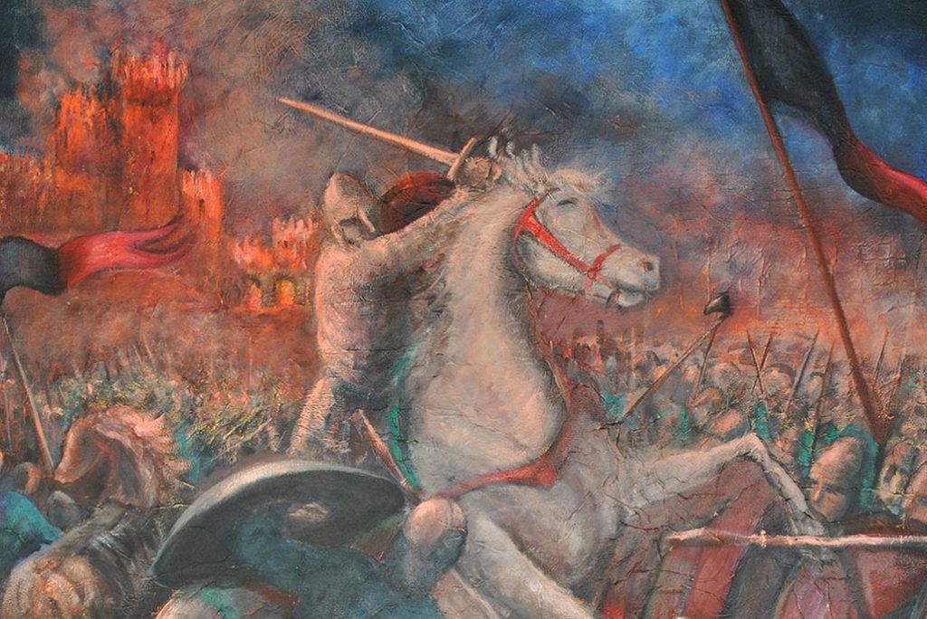 """Il dipinto """"L'assedio di Montagnana"""""""